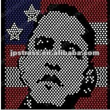 Obama rhinestone motifs ;heat press strass motifs