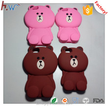 Factory design and make silicone animal shaped phone cases
