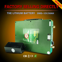 Deep cycle Quick charge Long discharge rechargeable dry cell pack car battery 12v 24v 48v 50ah 60ah 80ah 100ah