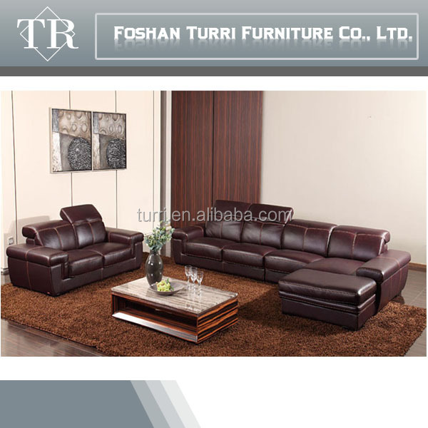 High Quality Living Room Couch Furniture Simple Design Leather Sofa