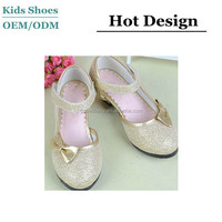 China brand beautiful shoes of girls girls formal silver shoes with high quality