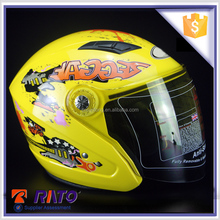 Gold supplier novelty yellow motocross helmets wholesale