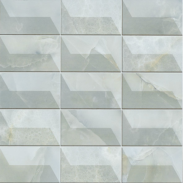 Grey Shiny Bathroom Wall Tile Glossy Ceramic Tile Polish