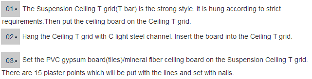 suspended ceiling metal t grids