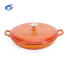 Cast iron enamel cookware/ casserole pot with stainless steel knob