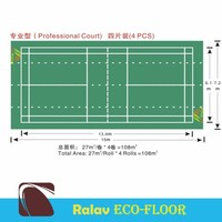 Professional pvc sports floor for badminton playground