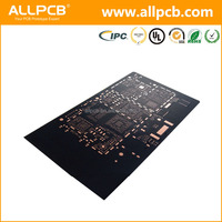 cheap FR-4 rigid 4 layer black solder mask PCB with HASL surface