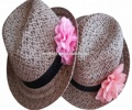 top quality summer paper straw fedora straw hat for adults
