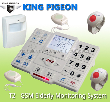 King Pigeon alarm system home security wireless elderly monitor T2
