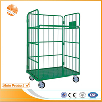 Insulated used steel demountable wire roll container