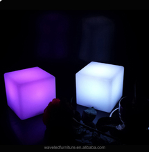 Outdoor Plastic led light cube furniture