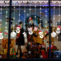 The Most popular snowman glass window stickers for Christmas decoration