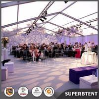 High quality Easy set 6 x 12 m white/blue PVC wedding party tents, event tents, gazebo, carports with sidewalls