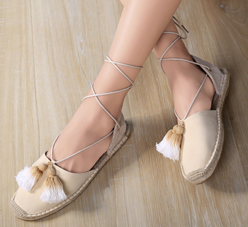2019 hot women canvas espadrilles shoes with tassels, made of cow leather upper, rubber outsole, 35-41
