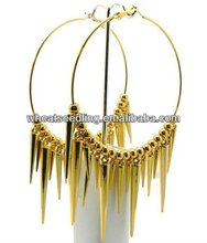 Fashion jewelry hoop spike earrings basketball wives earrings BWE80