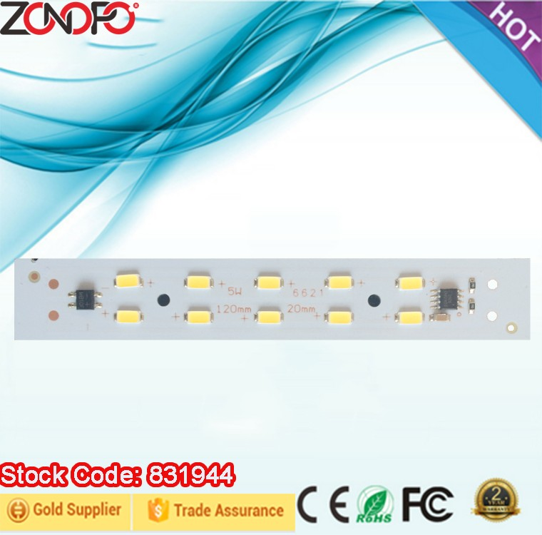 5w 6w 10w no driver need smd5730 high voltage 110v 220v aluminum dimmable linear light ac luminaire