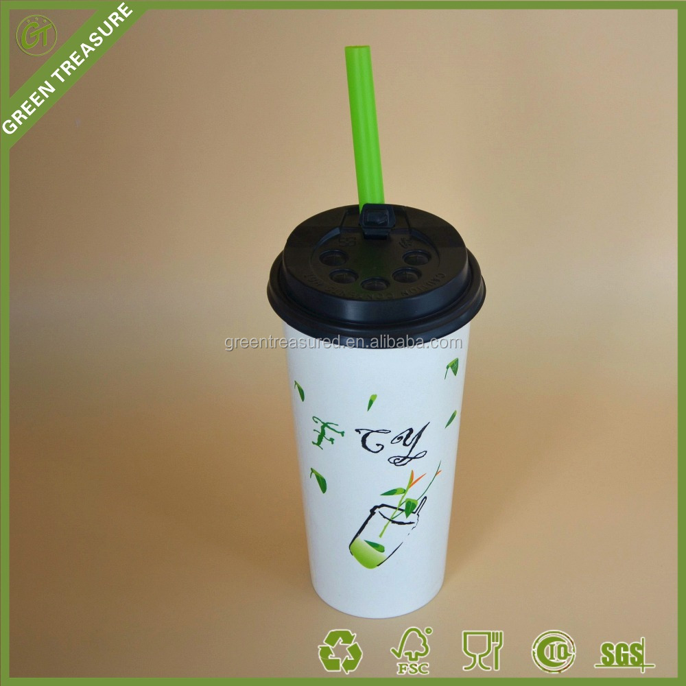 22oz 600ml Eco-Friendly Logo Printed wholesale coffee cups, king garden hot selling cold drink disposable paper cup