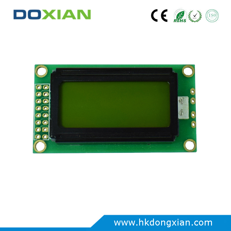 Industrial character cob rohs display module lcd 8x2