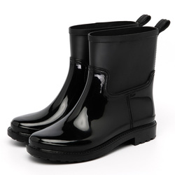 Hotsale Unique Design Durable ankle Rain Boots Women Half PVC Rain Shoes