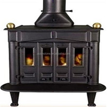 Multi fuel wood stove cast iron stove with boiler