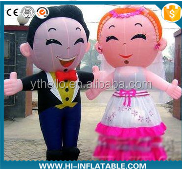 Hot selling wedding inflatable moving cartoon doll for sale