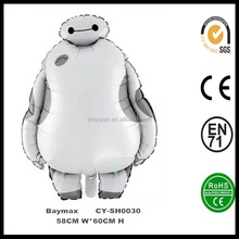 Cartoon Big Heroes 6 Baymax Foil Balloon Inflatable Baymax Helium Foil Balloon Party Decorations Foil Balloon