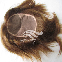 High Quality Natural Human Hair Topper With Lace Base