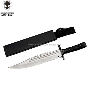 Fixed Tactical Bowie Survival Hunting Knife Military