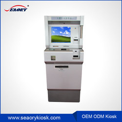 Hotel self check in touch screen money exchange machine card dispensing self-service terminal kiosk