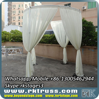 RK wedding backdrop stand/round pipe and drape design/indian crown wedding mandap decorations sale