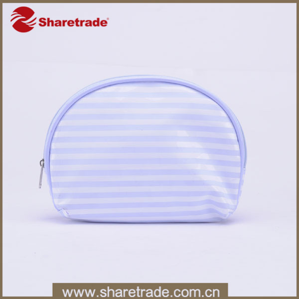 Popular Waterproof Stripe Mini Cosmetic Bag PVC, Small Purse for Change