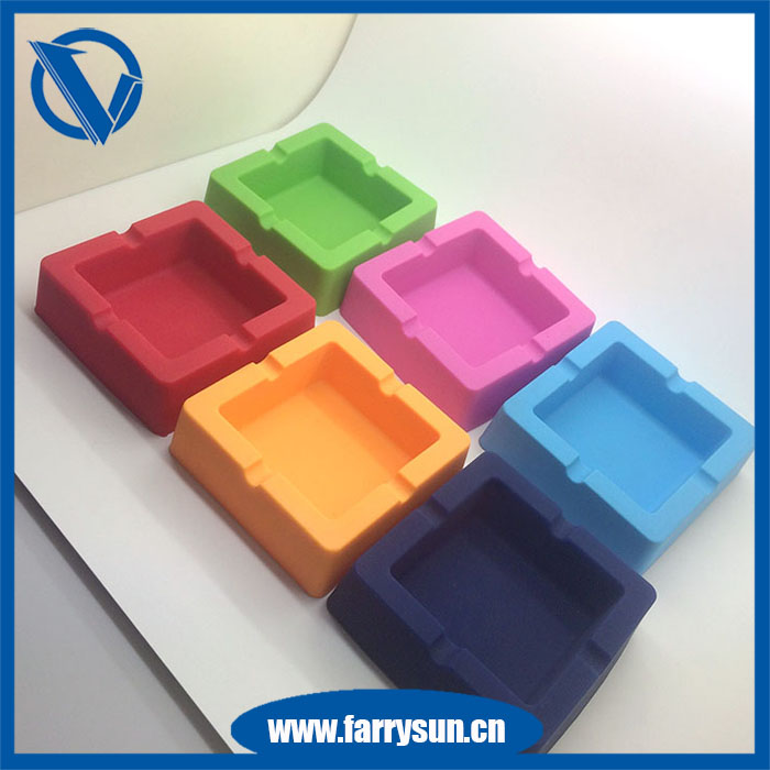 Custom made Smoking Accessories square shape Silicone ashtray