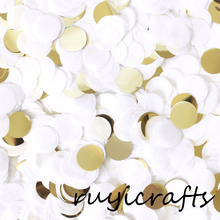 Gold White Paper Wedding Confetti
