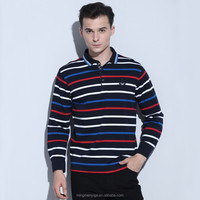 New Design Yarn Dyed Stripe Knitted Write Name T Shirt