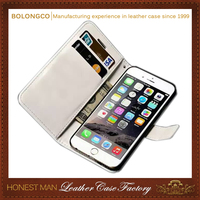 Luxurious wallet case for iphone 6s plus 6 plus bumper case with card slots wholesale