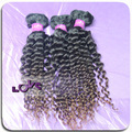 100%unprocessed new arrival natural ombre bohemian curly hair on hot sales!!