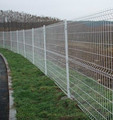 China manufacturer 50*200 garden fence , triangle bending fence , 3D curved welded wire mesh panel