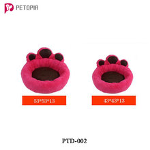 Cute Pet Paw Shaped Small Medium Dog Bed Pet Kennel Cat Puppy House Cushion Sleep Mat Cheap Price Cat Teddy Bed