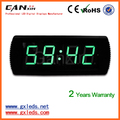 7 segment indoor green led digital alarm clock