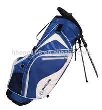 Custom designer blue and white golf stand bag