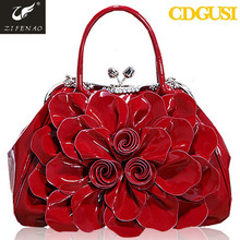 Shiny jewelry fashion handbags ladies 2015 with shiny flower made in China