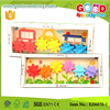 New Flowers & Cars Colour Spinning Wheels Gear Baby Wooden Toy