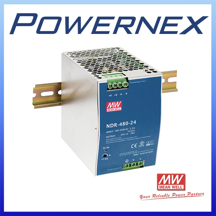 [ Powernex ] Mean Well NDR-480-48 480W 48V 10A Single Output Industrial DIN RAIL Switching Power Supply