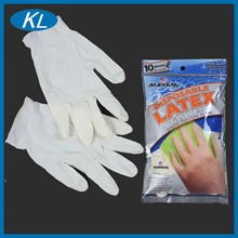 Comfortable size M milky obstetric medical grade disposable latex gloves