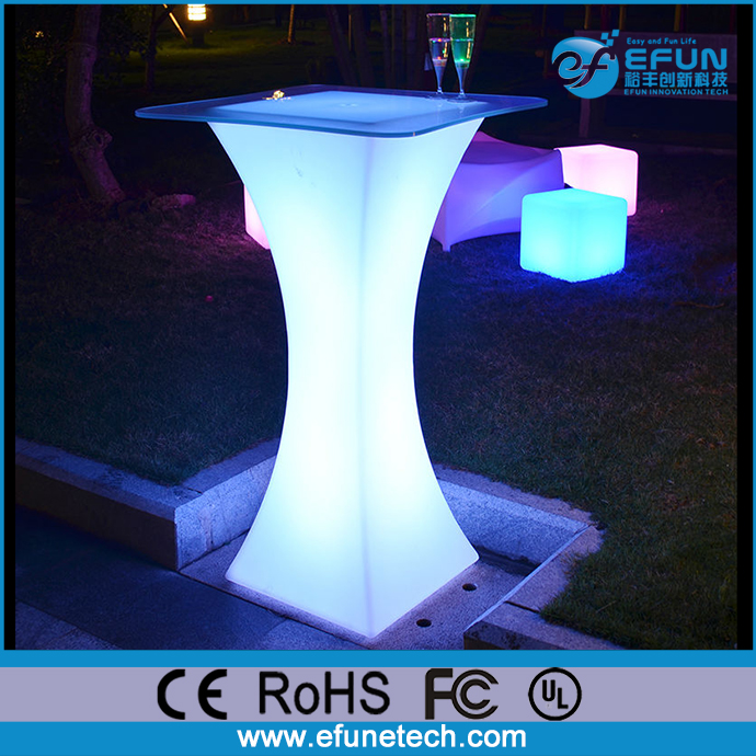 outdoor led furniture color changing illuminated light up curved bar high bistro tables