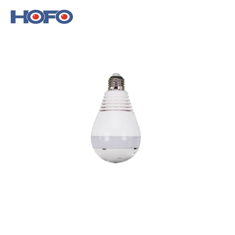 High quality economic fisheye ip wifi <strong>bulb</strong> camera 360 degree for household