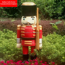 outdoor custom fiberglass soldier nutcracker for christmas decoration
