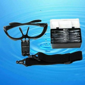 NO.9892B LED Light Medical Magnifying Glasses With 5 Lens