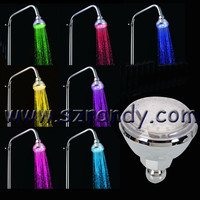 hydro power 7 colors led top shower heads