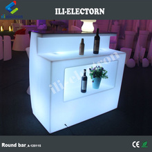 portable colorful plastic led straight bar counter